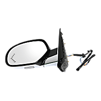 Mirror Power Folding Heated - Driver Side, Power Glass, In-glass Signal Light, Paintable