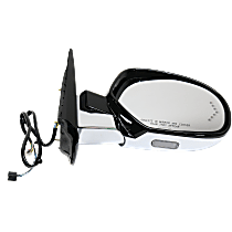 Mirror Power Folding Heated - Passenger Side, Power Glass, In-glass Signal Light, Paintable