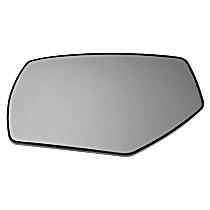 Mirror Glass - Driver Side, Non-Heated, Without Turn Signal Light and Blind Spot Feature