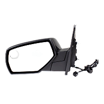 Mirror Heated - Driver Side, Power Glass, With Blind Spot Corner Glass, Paintable