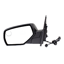 Mirror - Driver Side, Power, Heated, Folding, Paintable, With Blind Spot Glass, w/ Blind Spot Glass