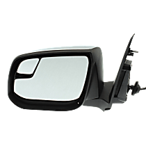 Mirror Heated - Driver Side, Power Glass, With Blind Spot Corner Glass, Chrome
