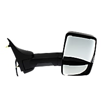 Mirror - Passenger Side, Power, Heated, Folding, Textured Black, w/ Extended Arm