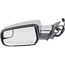 Mirror - Driver Side, Power, Heated, Chrome, With Blind Spot Glass