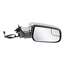 Mirror - Passenger Side, Power, Heated, Chrome, With Blind Spot Glass
