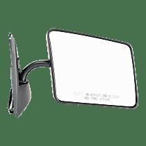Mirror - Passenger Side, Folding, Paintable, Below Eyeline Type