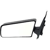 Mirror - Driver Side, Folding, Textured Black, Standard Type