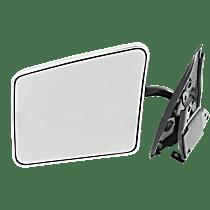 Mirror - Driver Side, Folding, Chrome, Below Eyeline Type; Black Base