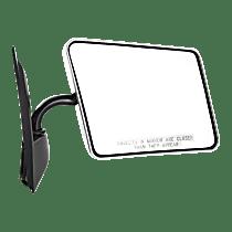 Mirror - Passenger Side, Folding, Chrome, Below Eyeline Type; Black Base