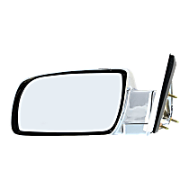 Mirror Manual Folding Non-Heated - Driver Side, Manual Glass, Chrome