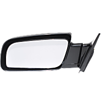 Mirror - Driver Side, Paintable, Type 1 (Standard Style) Black With Black Base