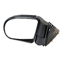 Mirror - Driver Side, Folding, Textured Black, 98 to 04 Style
