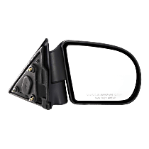 Mirror - Passenger Side, Folding, Textured Black, 98 to 04 Style