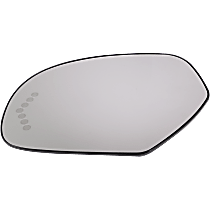 Driver Side Heated Mirror Glass, Without Turn Signal Light