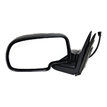 Mirror - Driver Side, Power, Folding, Chrome, Chrome Cap Black Base