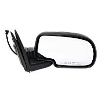 Mirror - Passenger Side, Power, Folding, Chrome, Chrome Cap Black Base