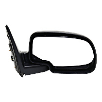 Mirror - Passenger Side, Folding, Textured Black, Type2 (Standard Style)