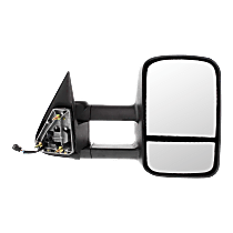Towing Mirror Manual Folding Heated - Passenger Side, Power Glass, With Blind Spot Corner Glass, Textured Black