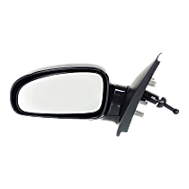 Mirror - Driver Side, Manual Remote, Folding, Paintable