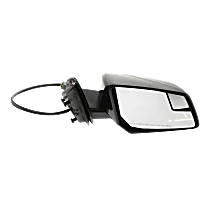 Mirror Manual Folding Heated - Passenger Side, In-housing Signal Light, With Blind Spot Corner Glass, Paintable