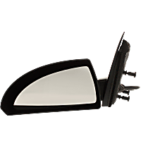Mirror - Driver Side, Power, Heated, Paintable, With Grained Black Base