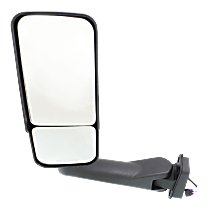 Mirror Manual Folding Heated - Driver Side, Power Glass, In-housing Signal Light, With Blind Spot Corner Glass, Paintable