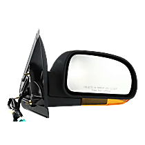 Mirror - Passenger Side, Power, Heated, Power Folding, Textured Black, Amber Turn Signal