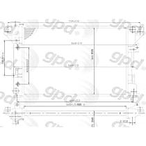 1108C Aluminum Core Plastic Tank Radiator