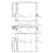 1295C Aluminum Core Plastic Tank Radiator