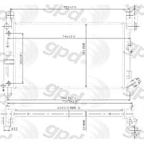 1388C Aluminum Core Plastic Tank Radiator