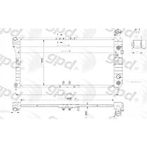 1889C Aluminum Core Plastic Tank Radiator