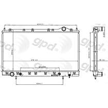 2023C Aluminum Core Plastic Tank Radiator