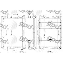 2256C Aluminum Core Plastic Tank Radiator