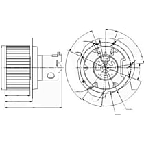 Blower Motor - Sold individually, 12 volts