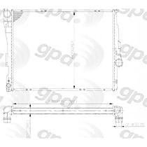 2636C Aluminum Core Plastic Tank Radiator