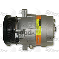 6511407 A/C Compressor Sold individually With clutch, 6-Groove Pulley