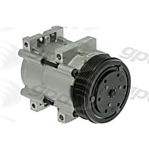 A/C Compressor - Sold individually, FS10, 6 Groove, 12:00 Coil, 5in Diameter, 5 in. Clutch Diameter