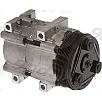 6511443 A/C Compressor Sold individually With clutch, 6-Groove Pulley