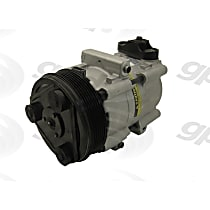 6511480 A/C Compressor Sold individually With clutch, 6-Groove Pulley