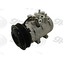 6511491 A/C Compressor Sold individually With clutch, 6-Groove Pulley