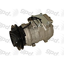 6511601 A/C Compressor Sold individually With clutch, 1-Groove Pulley