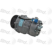 6511640 A/C Compressor Sold individually With clutch, 6-Groove Pulley