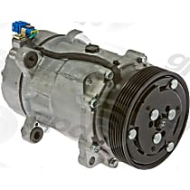 6511665 A/C Compressor Sold individually With clutch, 6-Groove Pulley