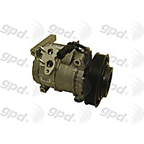 6511703 A/C Compressor Sold individually with Clutch, 6-Groove Pulley