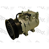 6511705 A/C Compressor Sold individually With clutch, 6-Groove Pulley