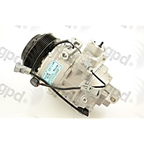 6511706 A/C Compressor Sold individually With clutch, 6-Groove Pulley