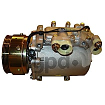 6511933 A/C Compressor Sold individually With clutch, 4-Groove Pulley