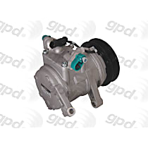 6512006 A/C Compressor Sold individually With clutch, 6-Groove Pulley