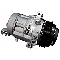 6512044 A/C Compressor Sold individually With clutch, 5-Groove Pulley