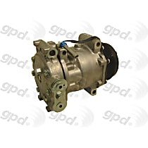 6512124 A/C Compressor Sold individually With clutch, 6-Groove Pulley
